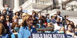 Nancy Pelosi at press conference on WHPA