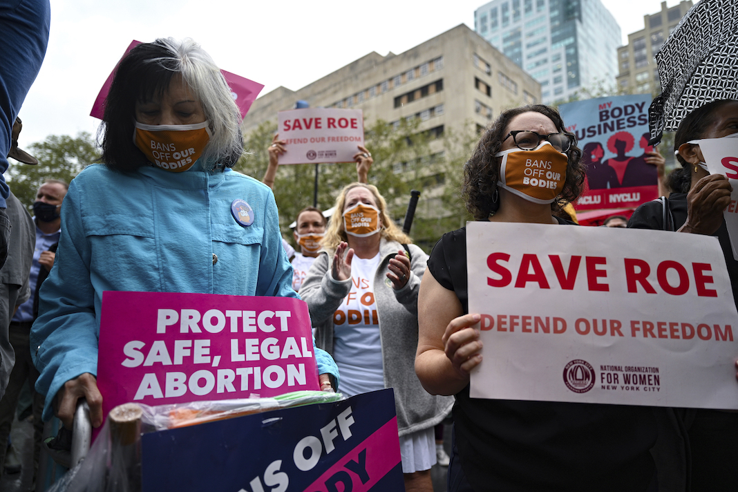 Planned Parenthood rally for abortion rights.