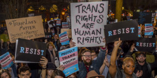 Rally for transgender rights
