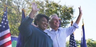Stacey Abrams and Terry McAuliffe