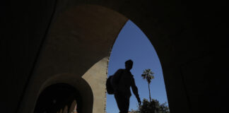 Students on Stanford University campus
